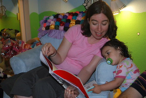 Carrie reads to Clara