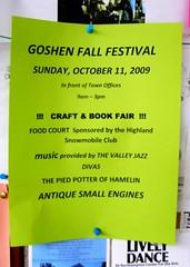 Goshen Fall Festival (10/11/09)
