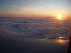 Sunset over London, from flight AC848