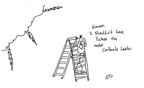 Metal Corporate Ladder