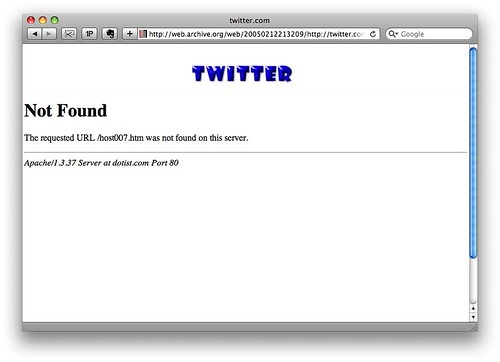 Twitter 2005