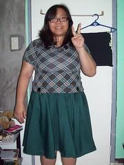 Green skirt front