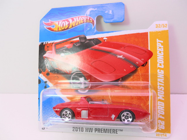 hot wheels short card '62 ford mustang concept