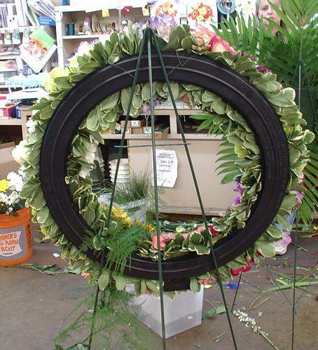 back of wreath