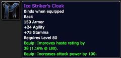 Ice Striker's Cloak - Item - World of Warcraft