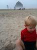 Alex and haystack rock