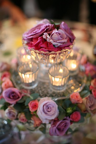 A top table display, cake stands and tea lights....