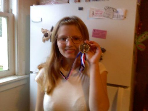 Whit and her medal