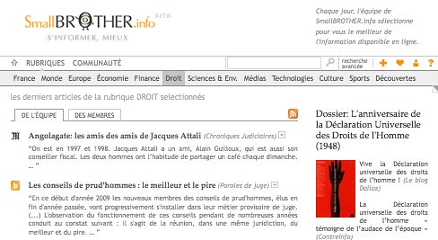 SmallBROTHER.info - S'informer, mieux by you.