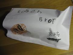 Rye bread in self made bag