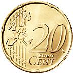 20 céntimos cara común