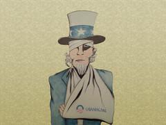 Uncle Sam Enjoying ObamaCare