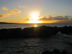 Sunset at Kapalua Bay, Maui, Hawaiian Islands
