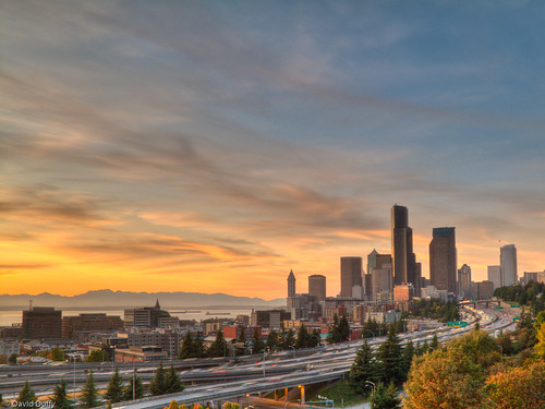 Seattle Sunset HDR