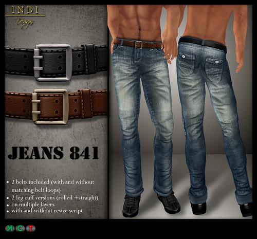 Jeans-841-cyan