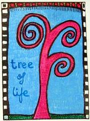 Tree Of Life Zendoodle ATC