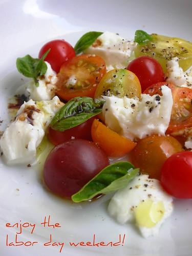 tomato, basil and buffalo mozzarella salad