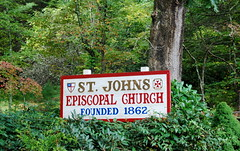 St. John's Episcopal Church in Valle Crucis, NC