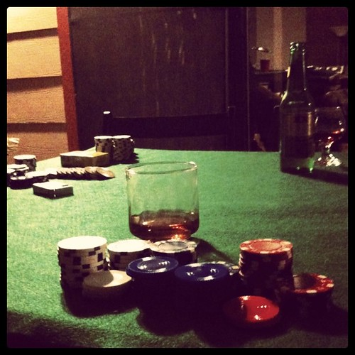Bourbon and Chips. Life is Good