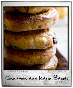 Cinnamon and Rasin Breakfast Bagels