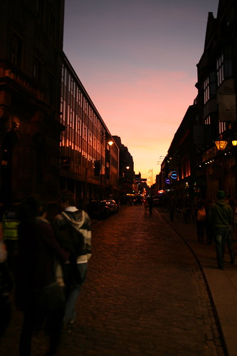 Temple Bar Setting Sun