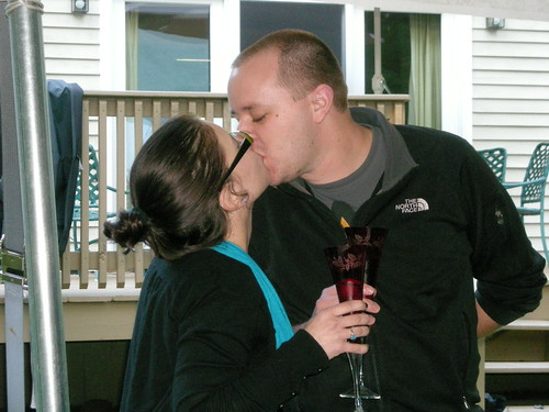 Did I mention we toasted an engagement?
