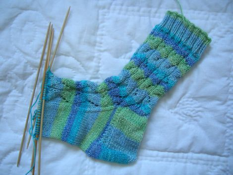 River Rapid Socks in progress