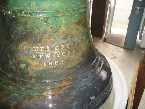 The Bell was cast by James Gregory in 1885. Photo by Tricia Vita/Coney Island History Project via flickr