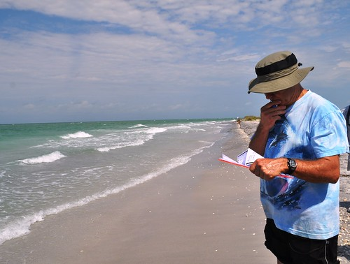 Dr. Beach Assesses a Knight Island Beach by Palm Island Resort, Fla.