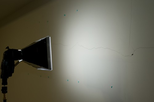 Heres a look at the spread of light on a white wall...  Nice and even!