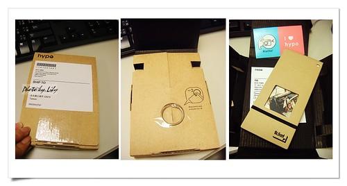 用瓦楞紙細心包裝的hypo ticket。