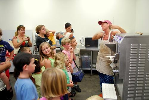 kimberlie explains the ice cream machine