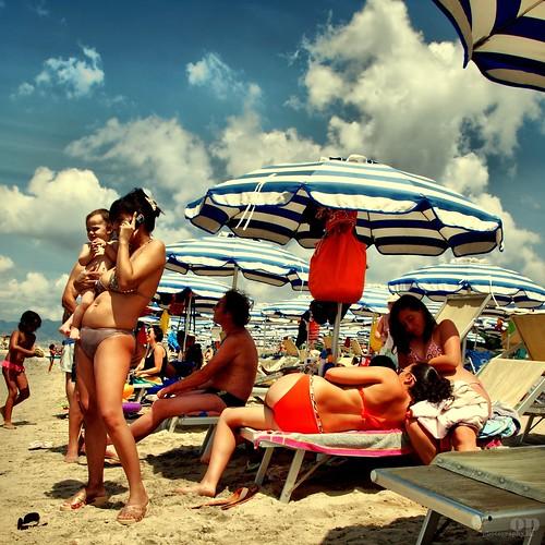 Cell phone Mom's Beach - Italians