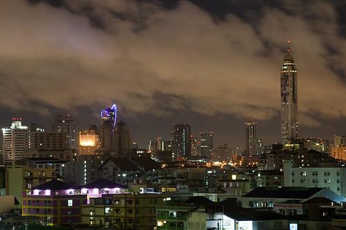 Bangkok Night From the Apartment