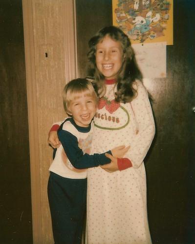 Me and Sister, circa 1981?