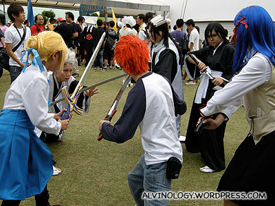 Multiple sword playing