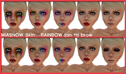 RAINBOW TAN lt BROW SKINS