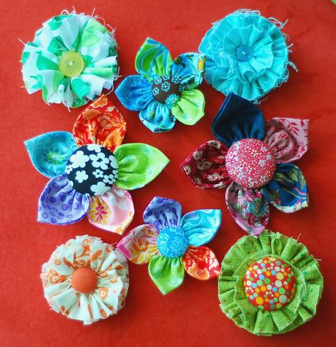 236/365 fabric flowers