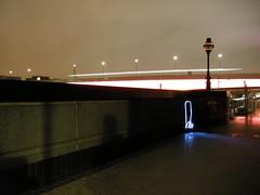 Spooky face next to London Bridge
