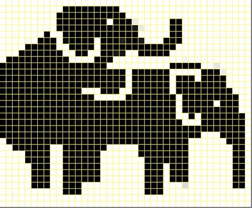 Humping Elephants knit chart