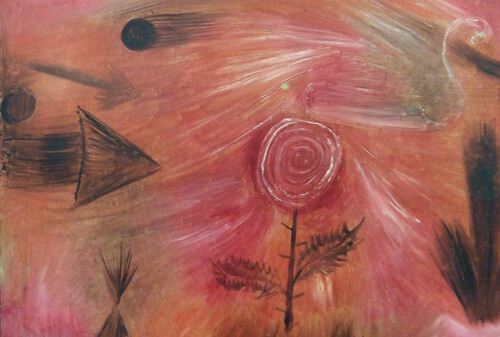 "Paul Klee: ""Rose wind"", detail"