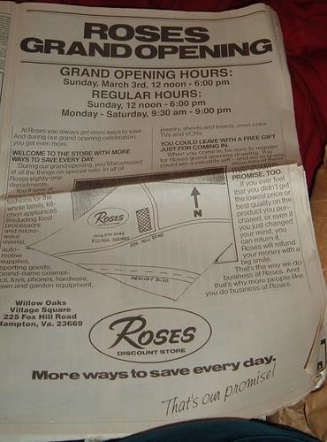 Roses Grand Opening, Hampton, VA 1991
