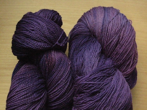 A range of medium, dusty purples