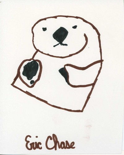 sea otter drawing by eric