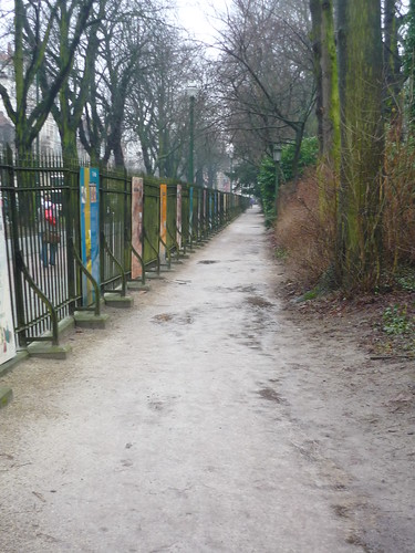 Abandoned jogging route in the park