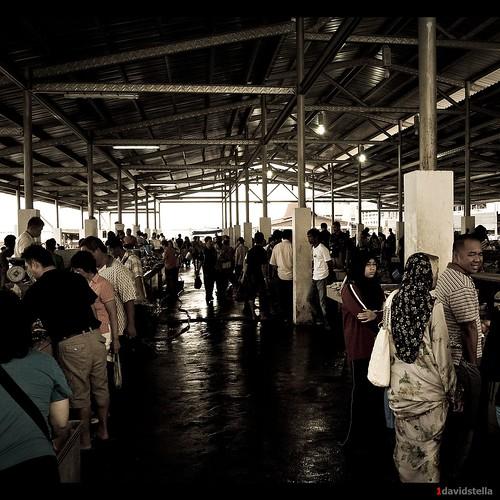central fish market at Kota Kinabalu