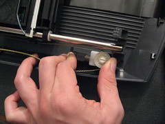 Removing the drive belt