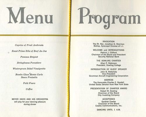 Menu and Program