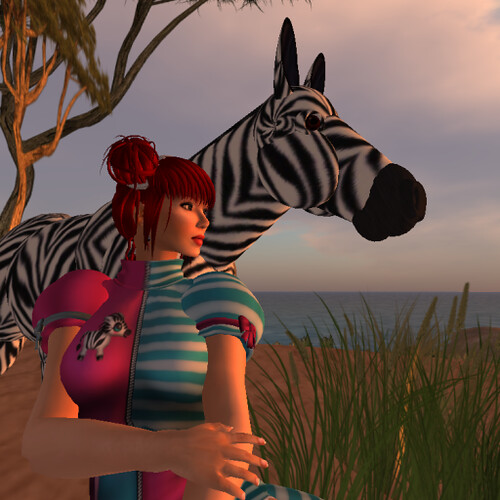 Elliandra Parx Communes with the Zebras