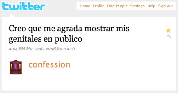 confessions - twitter